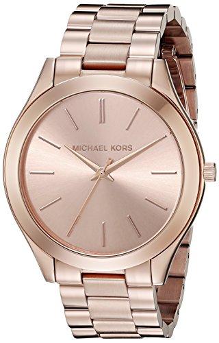 Pista de oro rosa en tono de Michael Kors reloj de las mujeres MK3197