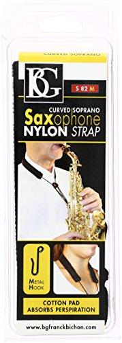 BG S82M curvado Saxofón Soprano correa para el cuello con gancho de metal