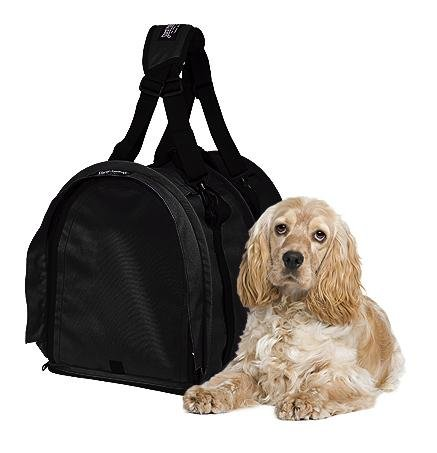 Sturdibag Extra Large Pet Carrier flexible Altura del animal doméstico de asas, Negro, Talla XL {20