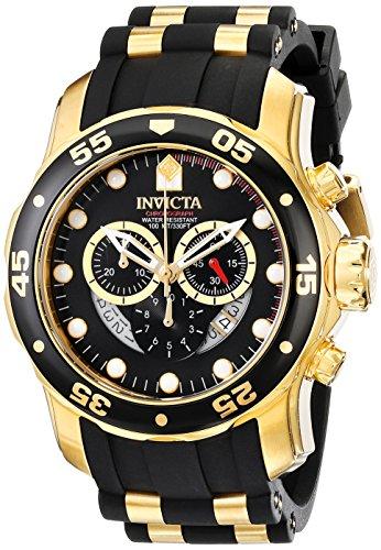 6981 Pro Diver analógico cronógrafo suizo Negro Poliuretano reloj invicta de los hombres