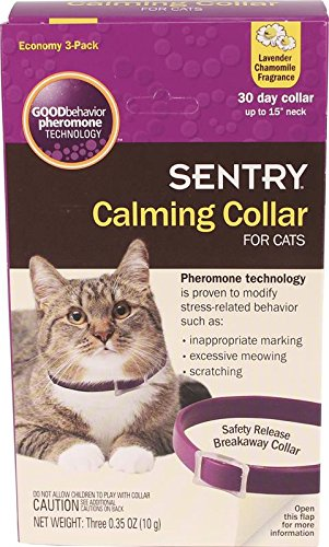 SENTRY Calmante Collar para gatos, 3 Pack