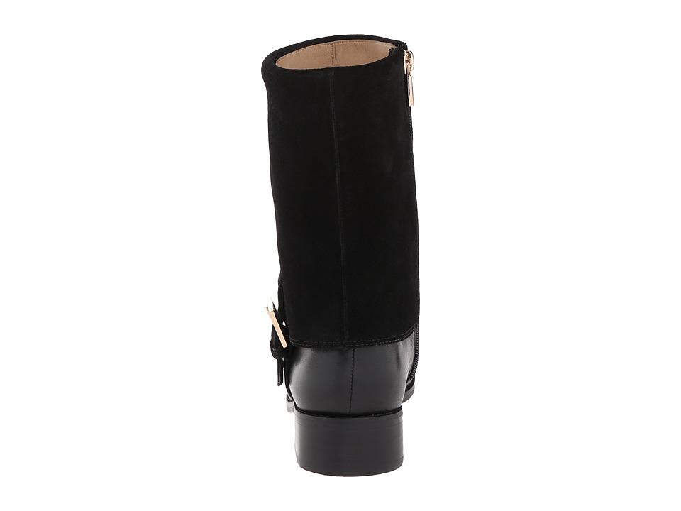 Bota Mujer Trotters Limona Negro Planos Napa Cuero Natural FullGrain Gamuza Cuero Natural