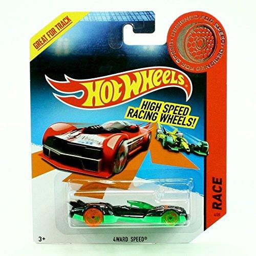 4WARD Speed ¿¿Hot Wheels - diseñado para la velocidad - 2013 de alta velocidad de la serie que compite con las ruedas del vehículo (BDW32)