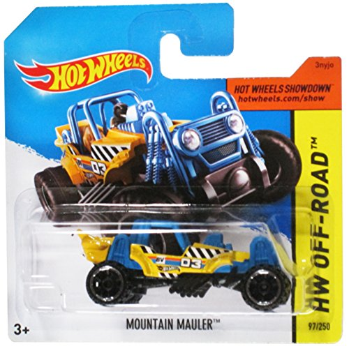 Hot Wheels Hw Off-Road amarillo / azul de la montaña en la tarjeta de Mauler Corto - 97/250