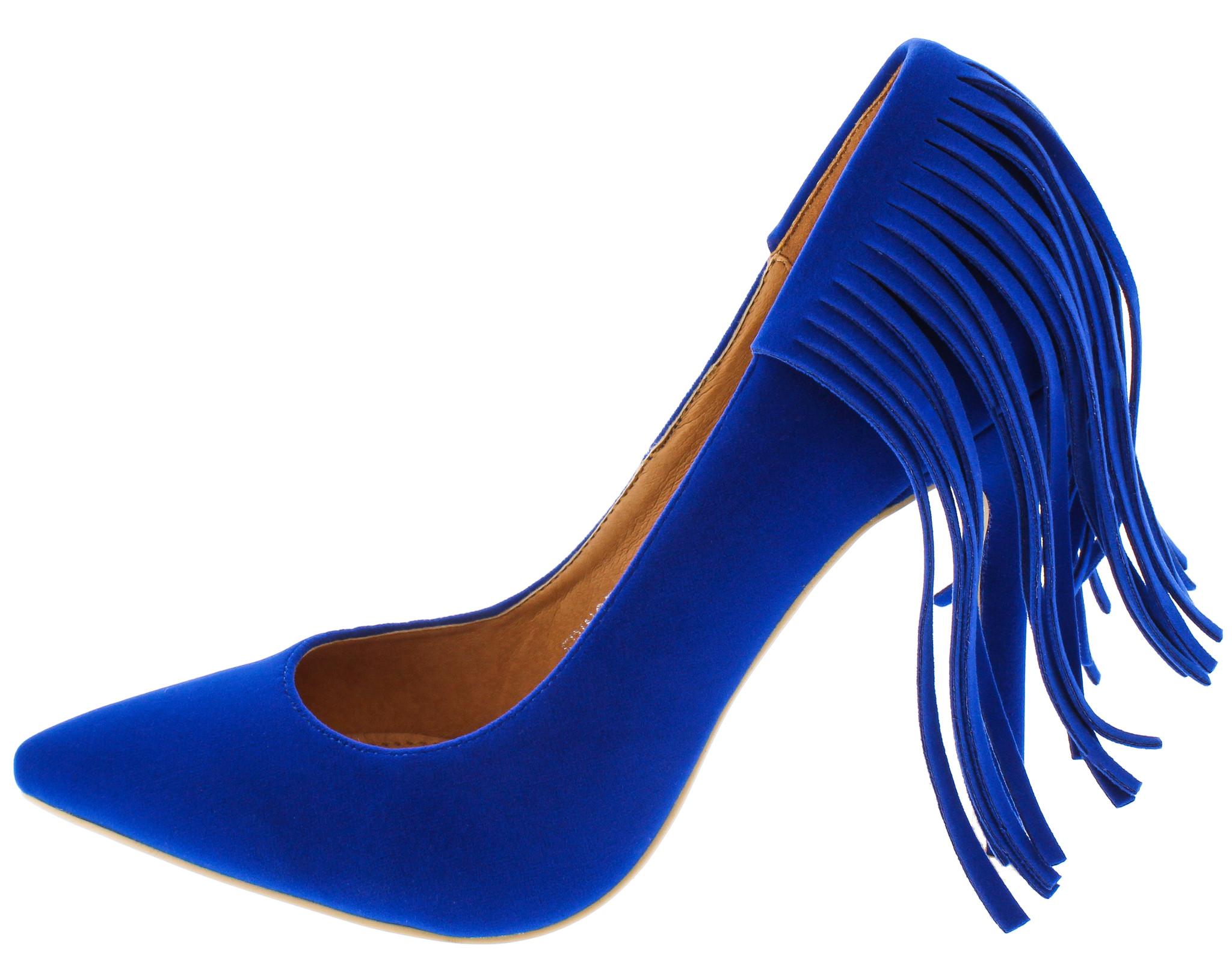 Tacones Mujer Genérica Sabella Azul Tacón Alto Envío Gratis