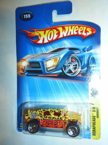 Hot Wheels: Scrapheads 3/5, Humvee (con los puntos del leopardo), Número en la colección 2004 Nº 155