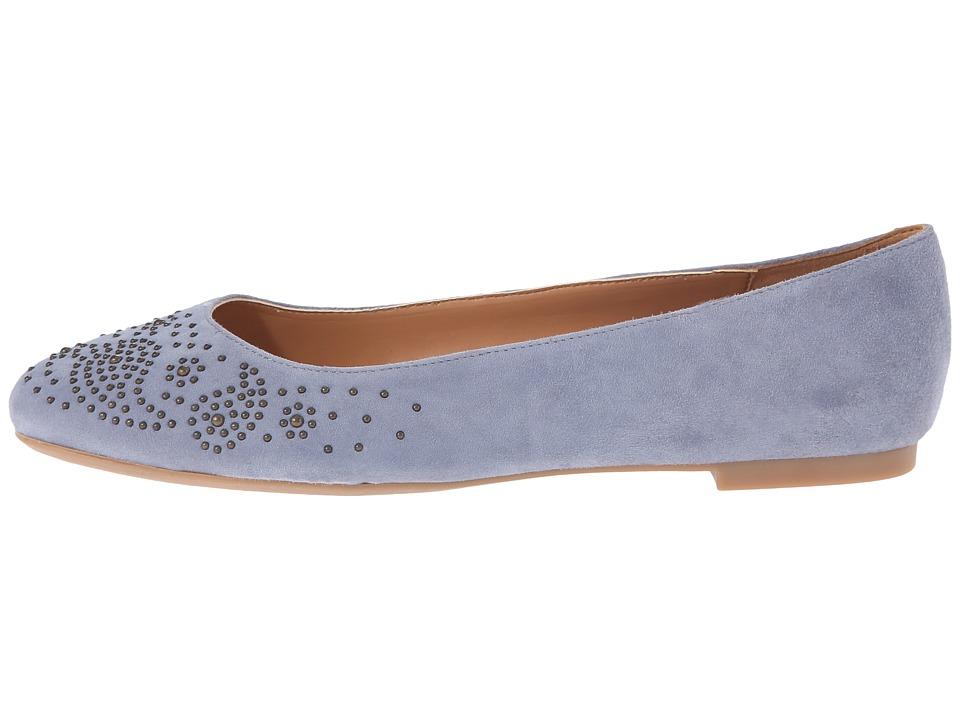 Zapato Mujer Nine West Gemma Azul Planos Gamuza Envío Gratis