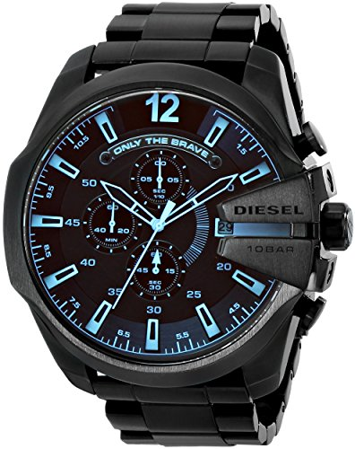 Reloj de acero inoxidable Jefe Diesel DZ4318 Serie Negro de los hombres diesel