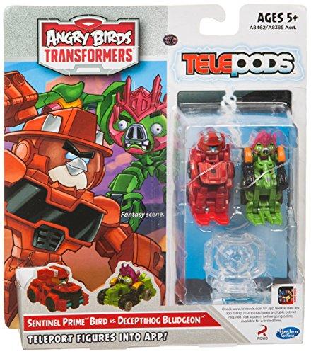 Angry Birds Transformers Telepods Sentinel Prime Bird vs. Deceptihog Bludgeon Figura Paquete