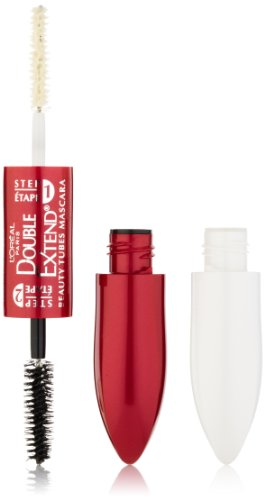 L'Oreal Paris Double Extend Beauty Mascara Tubos, Negro, 0,17 onza-Fluid