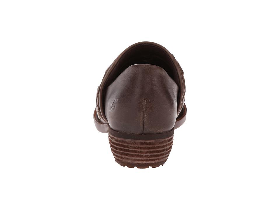 Zapato Mujer Born Hensley Café Planos Cuero Nat Envío Gratis