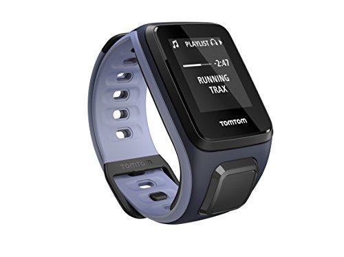 TomTom Spark Cardio + Música, GPS reloj de la aptitud + monitor del ritmo cardíaco + 3 GB de almacenamiento de música (Pequeño, capitán del cielo / Purple Haze)