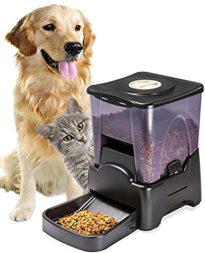 Alimentador OxGord electrónico automático temporizador programable para perro grande para perros pequeños