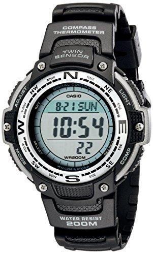 Negro del reloj digital del sensor Doble SGW100-1V hombre Casio