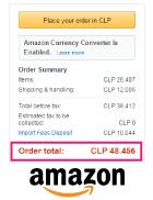 Resumen de compra en Amazon.com