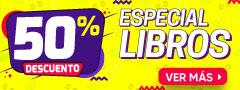 50% DCTO - Especial Libros