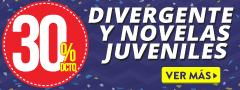 30% de dcto en libros, Divergente y otras novelas juveniles