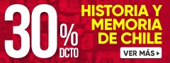 30% de dcto Memoria e Historia de Chile