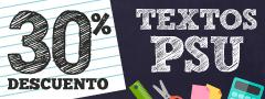 30% Dcto en Textos PSU