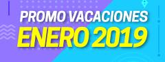 Promo vacaciones enero 2019