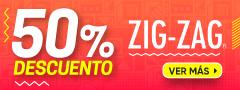Zig Zag con 50% dcto